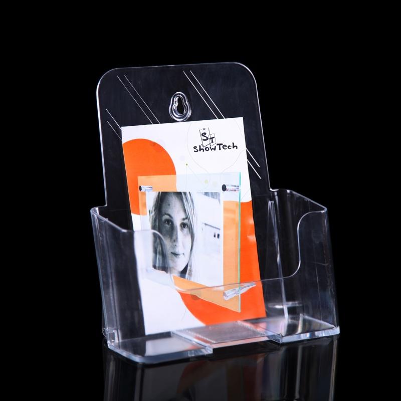 a5透明单层低背目录架资料架 ps塑料宣传单展示架