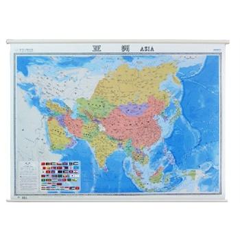 9其它】亚洲地图 挂图挂图高清晰防水不