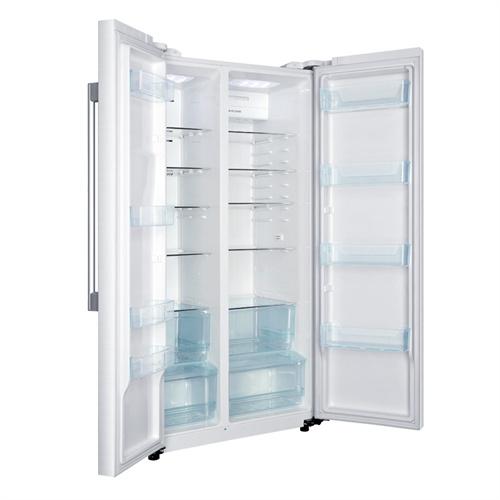 haier/海尔 bcd-579we 579升节能型电冰箱 风冷无霜 白色水韵纹 镜面