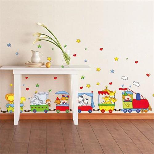 儿童房卧室幼儿园教室布置卡通环保装饰贴墙贴壁贴 托马斯火车