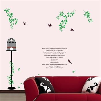 墙贴饰客厅电视沙发背景墙卧室床头墙贴装饰墙贴纸壁贴墙画春天的信使