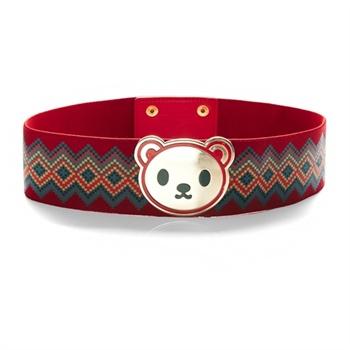 佐丹奴bsx皮带女装小熊马赛克图案机织腰带04433003