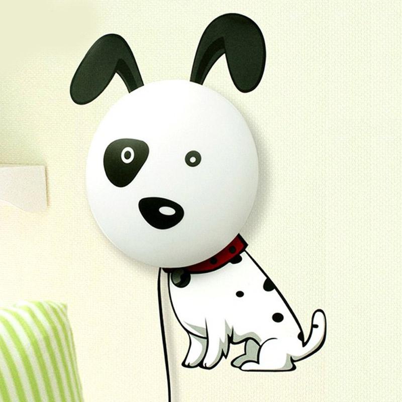 爱的曼语 创意3d墙纸灯 卧室床头灯 可爱卡通装饰墙贴儿童房壁灯 创意
