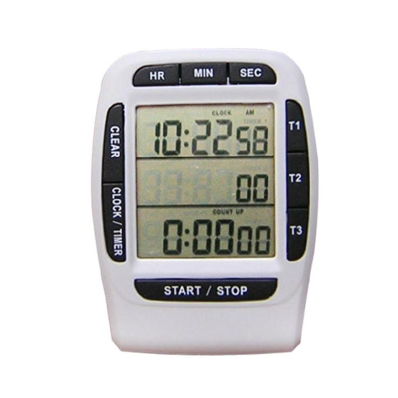 三通道显示电子定时器厨房提醒器 定时器 倒计时器三通道秒表时钟功能