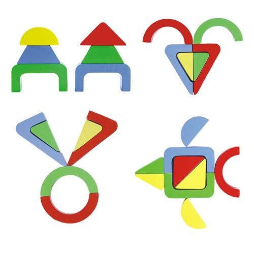 5cm  商品内容:  (1)六形六色拼板: 黄色六边形8个,橘色正方形14个图片