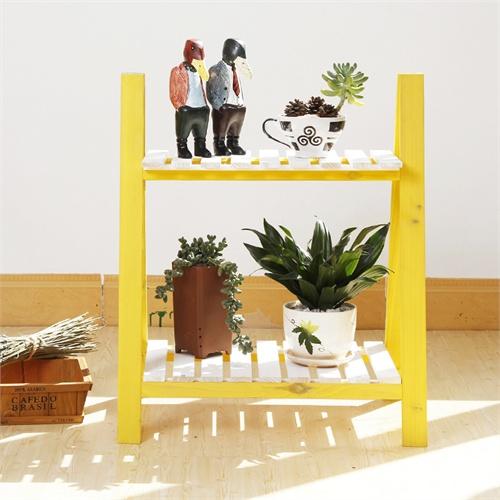 现代简约创意zakka多肉双层木头小花架花台桌面办公室办公桌装饰特价