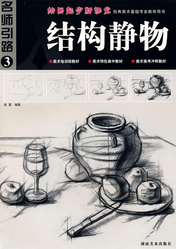 绘画起步新课堂经典美术基础专业教学用书:结构静物