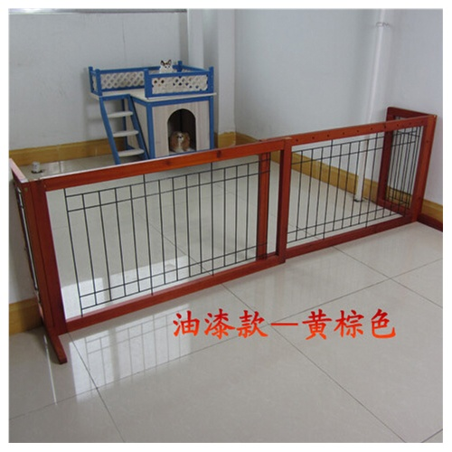 实木狗栅栏门宠物犬围栏狗狗隔离门隔离栏可调节伸缩