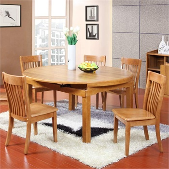 派森家具 简约时尚圆形折叠家用餐厅餐桌 餐台饭桌子折叠