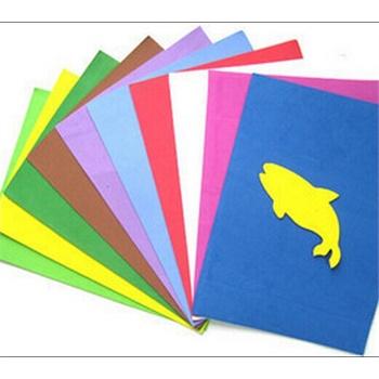 a4泡沫纸16k儿童打花器手工彩纸 幼儿园diy材料eva海绵纸 10张