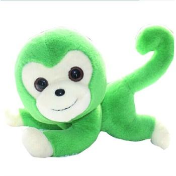 正版欢乐猴可爱大眼创意长尾猴毛绒玩具布娃娃生日礼物猴年吉祥物