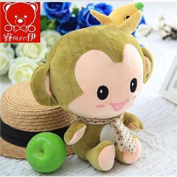 香蕉猴公仔 大号悠嘻猴毛绒玩具猴子抱枕可爱布娃娃 生日礼物