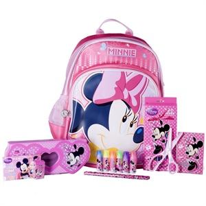 迪士尼/Disney 迪士尼豪华大礼盒(小学生书包文具27件套装) 粉色DM...