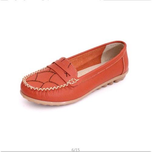 单鞋休闲中老年皮鞋女鞋牛筋底软底