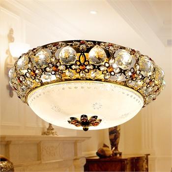 水晶灯欧式吸顶灯饰过道灯玄关灯卧室灯具餐厅