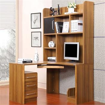 转角台式电脑桌书架书柜书桌组合
