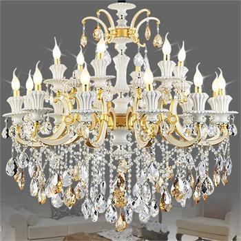 [工厂直营]世源欧式蜡烛水晶灯豪华卧室别墅客厅水晶