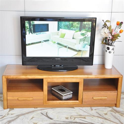 现代简约多功能框架实木小户型电视柜