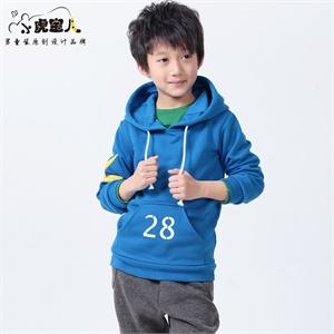 小虎宝儿童装 学院风卫衣男童套装经典蓝运动儿童套装新款2014春装套装