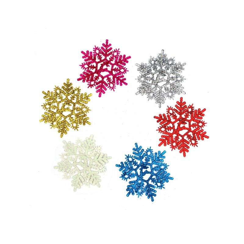 圣诞装饰 圣诞节礼品 彩色雪花片 圣诞树挂件 圣诞用品