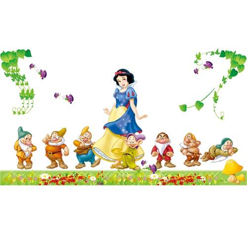装饰墙贴纸-白雪公主和七个小矮人