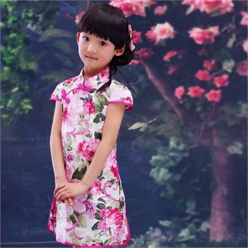 儿童唐装演出服裙子