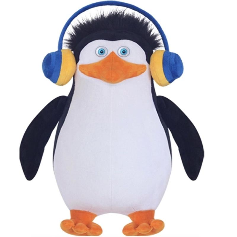 【马达加斯加正品企鹅公仔老大可爱毛绒玩具儿童创意