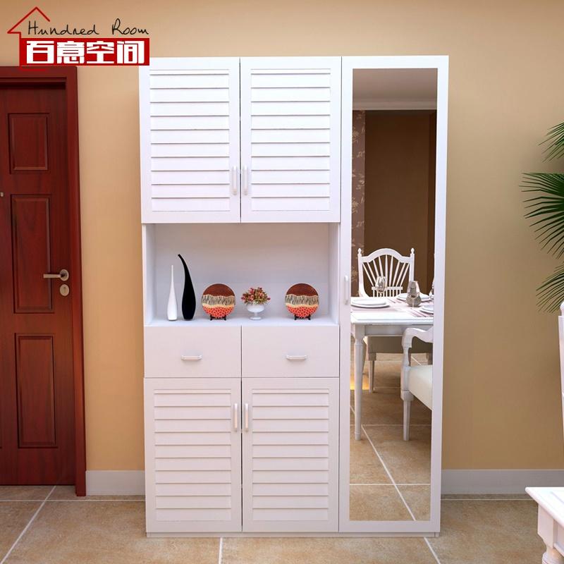 定制板式多功能环保门厅柜 玄关柜 简约大容量 鞋柜 阳台储物收纳柜子图片