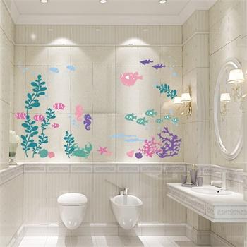 卧室儿童房可爱卡通 装饰墙贴纸墙壁贴墙画-海底世界