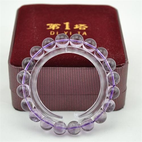 第一塔 纯天然水晶手链sj204 紫水晶 招财旺运 晶石手串 女款