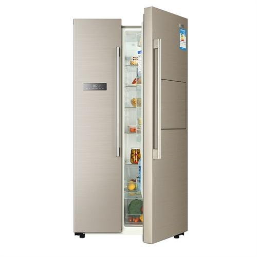 haier/海尔 bcd-581wbpp 风冷保湿无霜 变频冰箱 对开门 吧台 金色彩