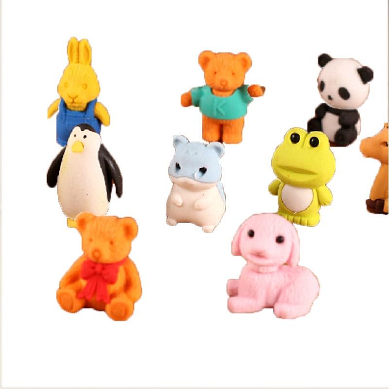 可爱卡通立体造型 小动物橡皮 橡皮擦 创意可爱卡通橡皮擦 奖品 礼品