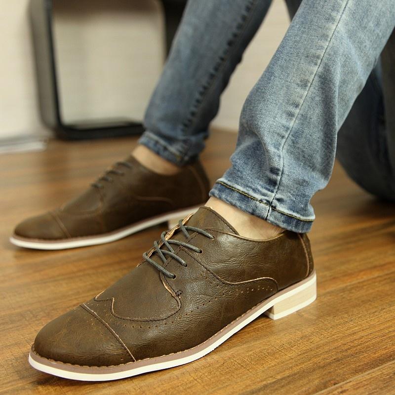 男士休闲皮鞋 英伦商务韩版潮板鞋