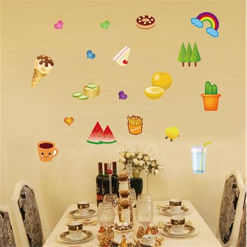 孖堡家居 diy可移除墙贴纸 厨房儿童房客厅餐厅 冰箱贴幼儿园教室布置