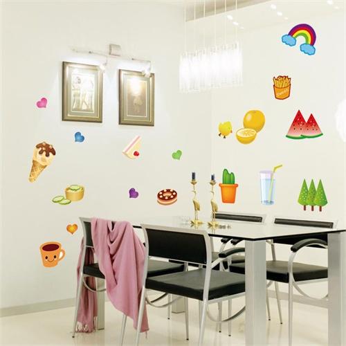 厨房儿童房客厅餐厅 冰箱贴幼儿园教室布置贴画墙贴