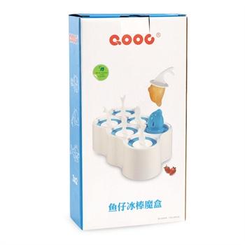qooc西芹冰棒模具diy自制雪糕模具无毒创意冰棍棒冰小鱼造型6根装
