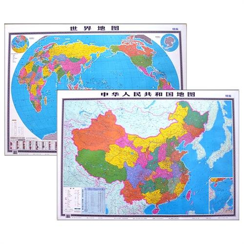 2015版 学生* 中文 中国地图 世界地图 贴图 1.1米x0.