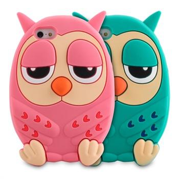 韩国猫头鹰卡通萌苹果iphone5手机壳苹果4s保护套硅胶图片