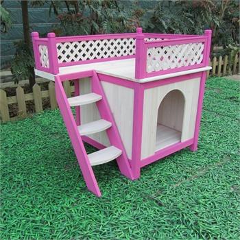 木头狗房子犬舍创意可爱别墅狗窝通用狗狗用品小型犬
