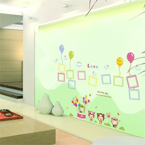 孖堡家居 diy可移除墙贴 教室布置卧室儿童房可爱卡通