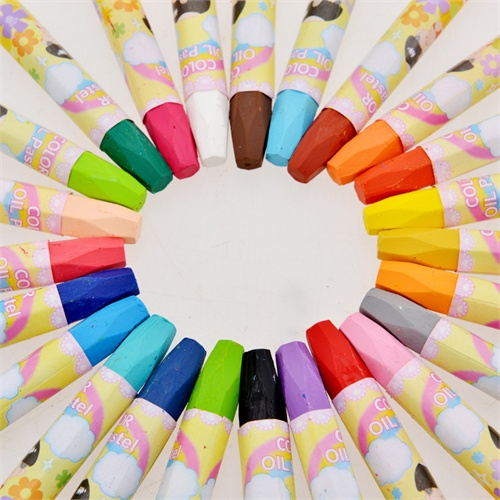 西瓜太郎24色油画棒 儿童彩色绘画蜡笔 水溶性易洗彩笔 安全无毒