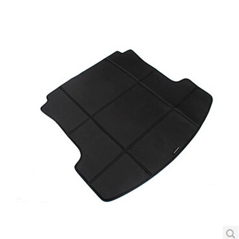 大众汽车后备箱垫新迈腾速腾新朗逸cc朗行途观*皮革后备尾箱垫_黑色