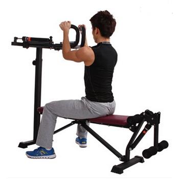 健身器材液压举重床踢腿力量训练哑铃凳单人站 多功能综合训练器图片