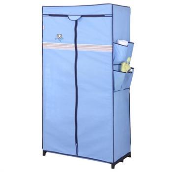 空间大师 超迷你衣柜SPM4816Y 无纺布衣柜 折叠简易衣橱衣柜   ¥49