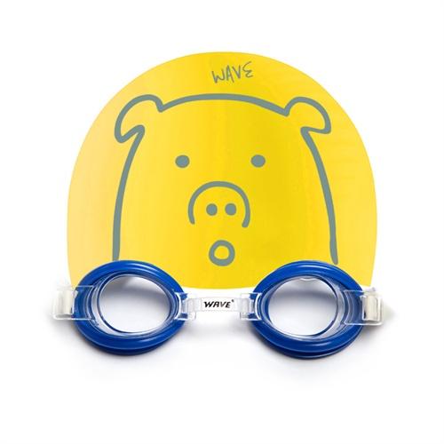 wave儿童卡通动物图案高级硅胶游泳泳帽防水防紫外线