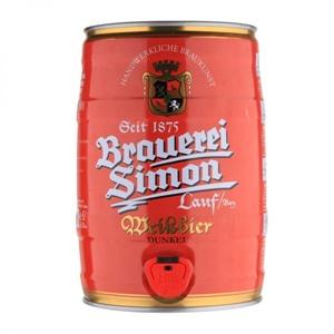 【1919酒类直供】凯(恺)撒西蒙小麦黑啤酒桶装5L 德国进口啤酒 新品上架