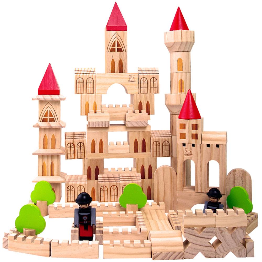 本色城堡积木