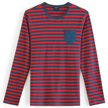 当当优品 男士纯棉针织色织条纹 长袖T恤 BM0090