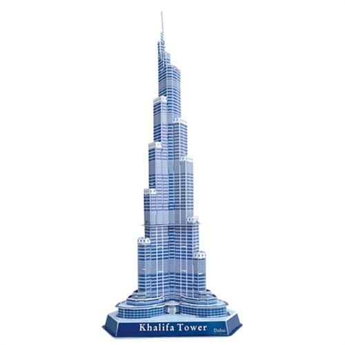 领乐思 立体3d拼图 diy纸建筑模型 迪拜哈利法塔(迪拜