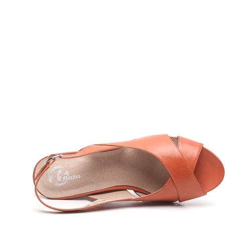 bata/拔佳夏季牛皮女凉鞋apj11d